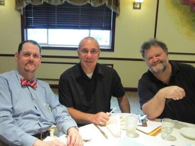 Ellis Tech's Warren Knisbaum and Fred DePietro with AeroTech's Roger Phillips