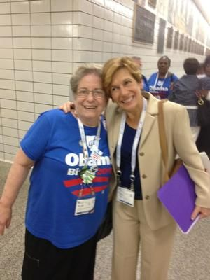 The SVFT's Ruth Cion (Goodwin) and AFT President Randi Weingarten